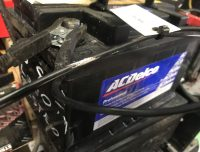 Used car batteries.  Charged and tested